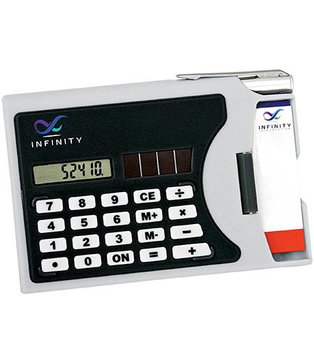 Visitenkartenhalter mit Taschenrechner Iller