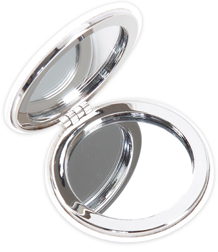 Spiegel mit Lederbezug Tiara