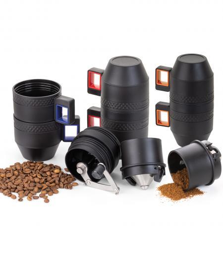 Isolierbecher mit Handkaffeemühle Chile