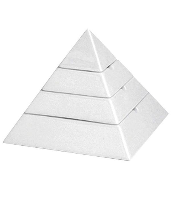 Aschenbecher aus Porzellan 15x15x13 cm Ägypten
