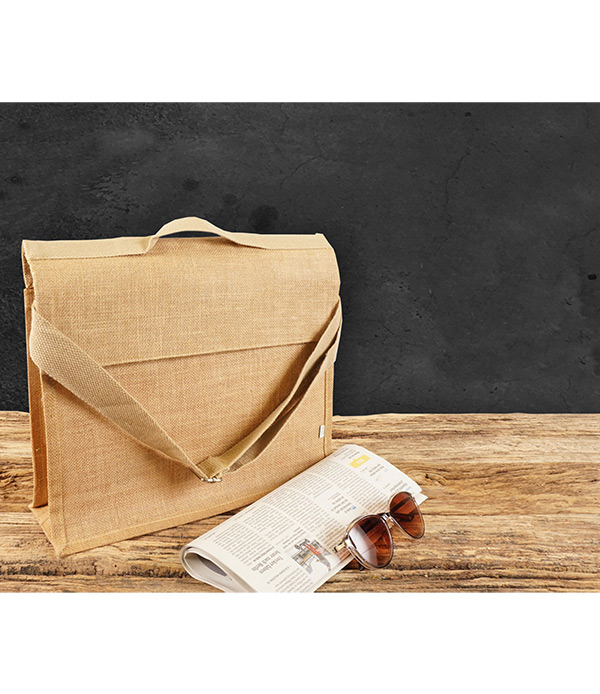 Jute-Dokumententasche 38x28x12 cm Birnbaum